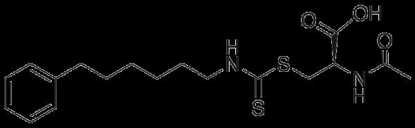 N-Acetyl-S-(N′-phenylhexylthiocarbamoyl)-L-cysteine